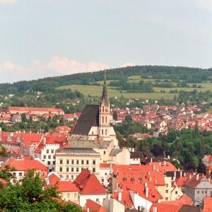 Вид на город в Чехии