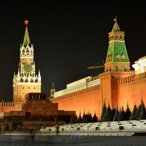 Красная Площадь. Спасская и Сенатская башни.